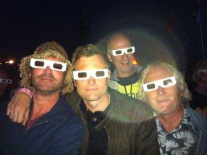 Kraftwerk nytes best i 3D! Her med (fra venstre) Asbjørn Bakke, Robert Hoftun Gjestad, Geir Rakvaag og Leif Gjerstad (Foto: Ole Jacob Hoel)