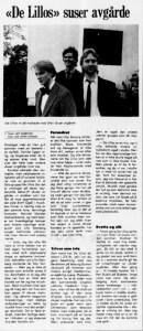1986-intervjuet, slik det så ut i Haugesunds Avis (Foto: faksimile)