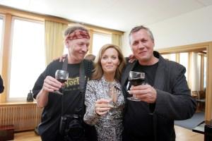 Du bare må bruke bildet med Anders, Guri og meg! Oppfordret Vidar Ruud om og om igjen. Ok, her er det. (Foto: Birgit Dannenberg)