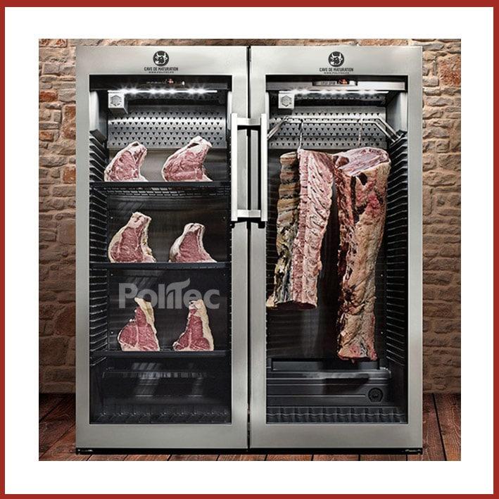 Une chambre froide pour la maturation de la viande bovine