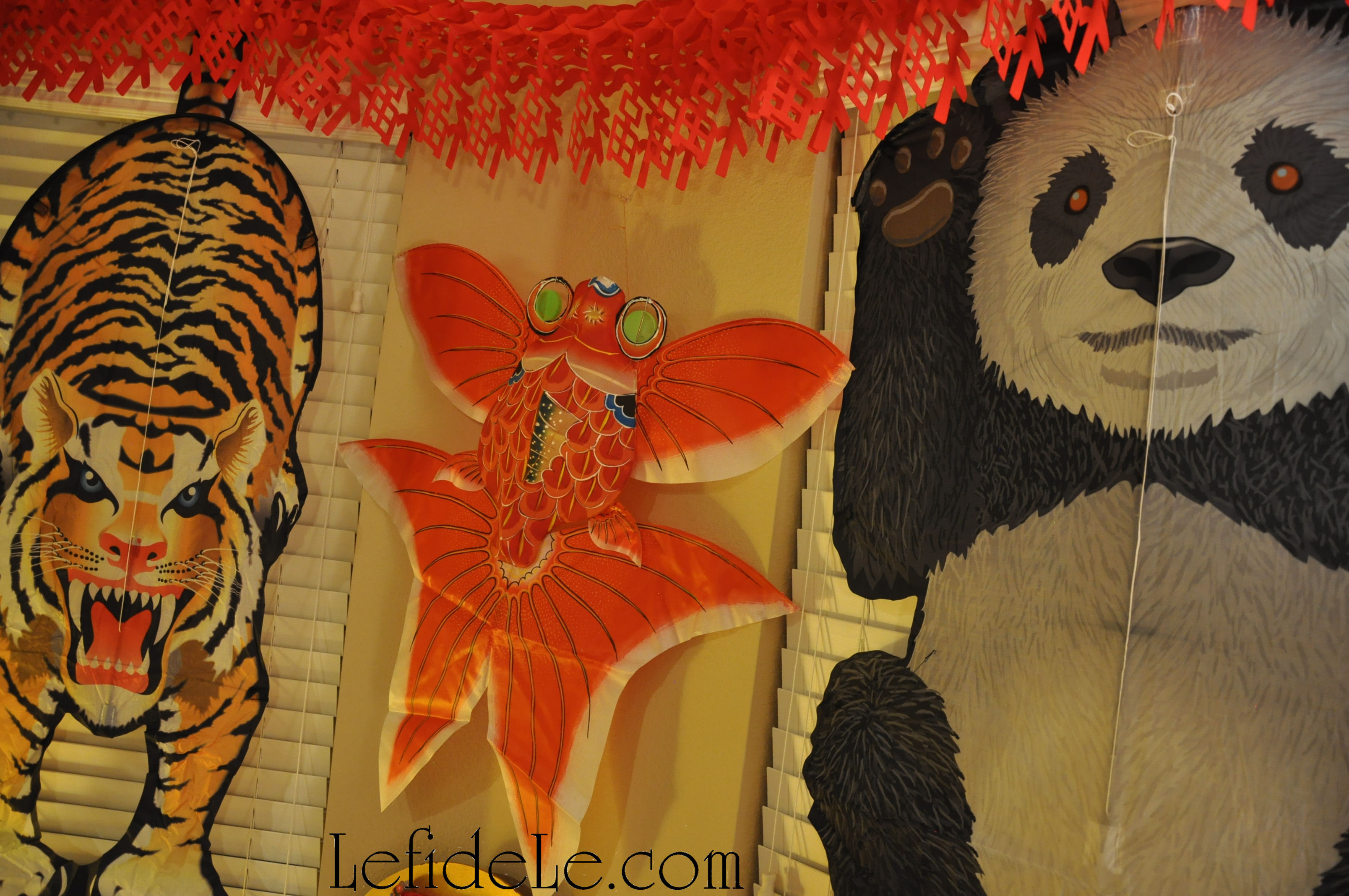 Modern chinese new year table setting -  Of Traditionally Made Bamboo Kites Red Phoenix Bird And Orange Karp Goldfish And Modern Kites Tiger And Panda Extend The New Year S Celebration
