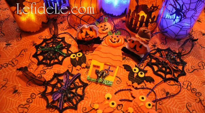 DIY Easy Last Minute Halloween Ornament Décor Remade From Scraps Craft
