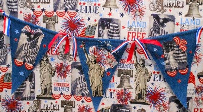 DIY July 4th Denim No-Sew Appliqué Collage Star-Spangled Banner Craft Tutorial for Independence Day