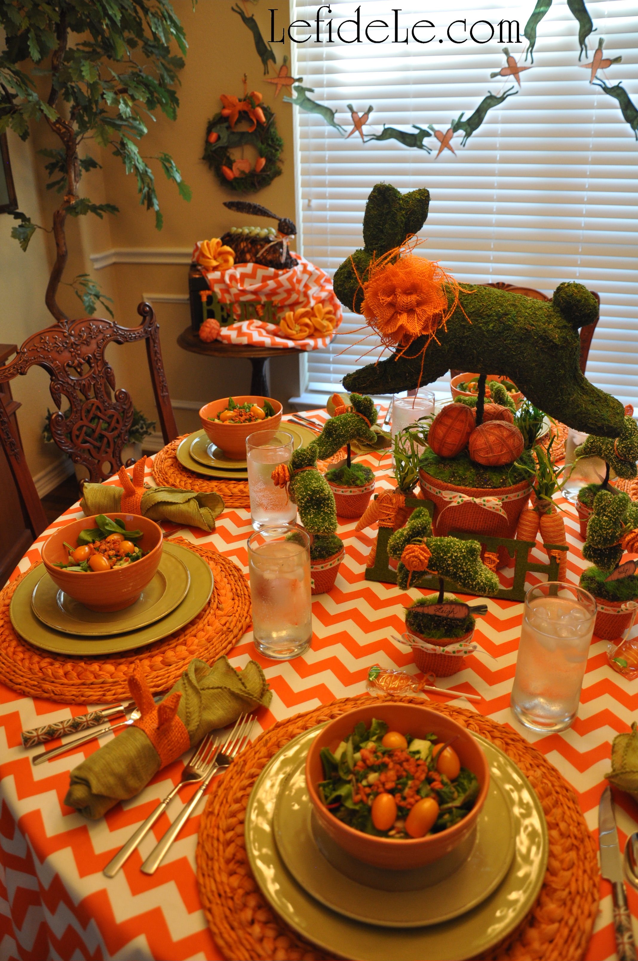 Easy DIY Leaping Bunny Topiary Craft Tutorials with Free Banner ...