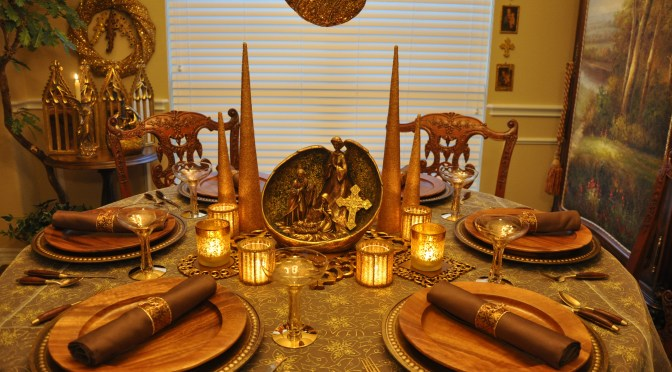 Celebrate the True Meaning of Christmas with Tablescape Décor Ideas Evoking Love's Pure Light