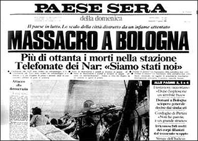 À la une des journaux italiens de l'époque
