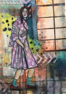 Art Journalin lila kvinna