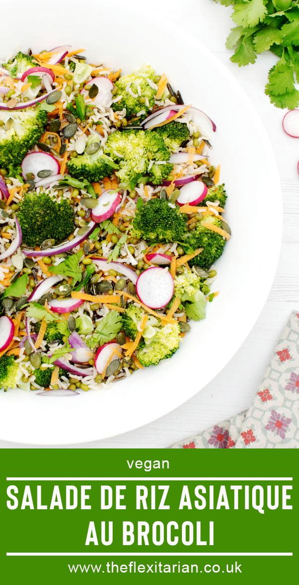 Salade de Riz Asiatique au Brocoli [vegan] 2020 © Annabelle Randles The Flexitarian   Le Flexitarien