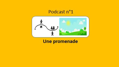 podcast 1 une promenade - le Français illustré