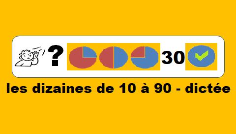 Les dizaines de 10 à 90 – dictée