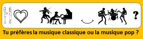 tu préfères la musique classique ou la musique pop
