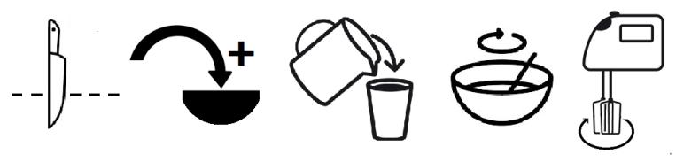 mots mêlés illustrés - verbes utiles à la cuisine 1