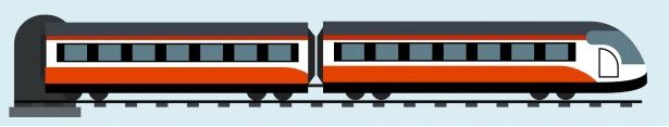 un train sortant d'un tunnel