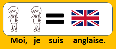 Moi, je suis anglaise.
