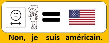 Non, je suis américain.