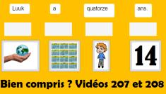 test yourself - bien compris - vidéos 207 and 208