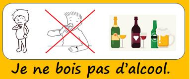 Je ne bois pas d'alcool.