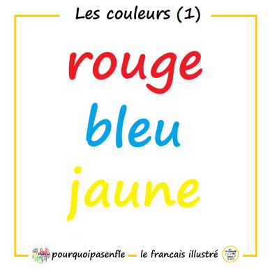 rouge bleu jaune