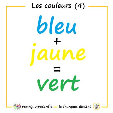 bleu + jaune = vert