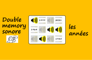 Double memory sonore Les Années