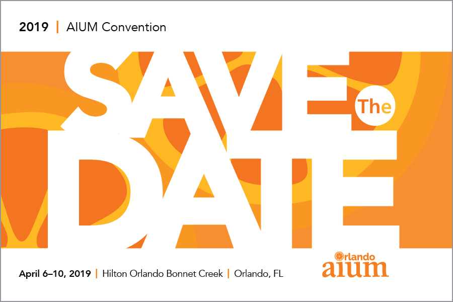 Kelly Strine, left-brained creative: 2019 AIUM Convention postcard