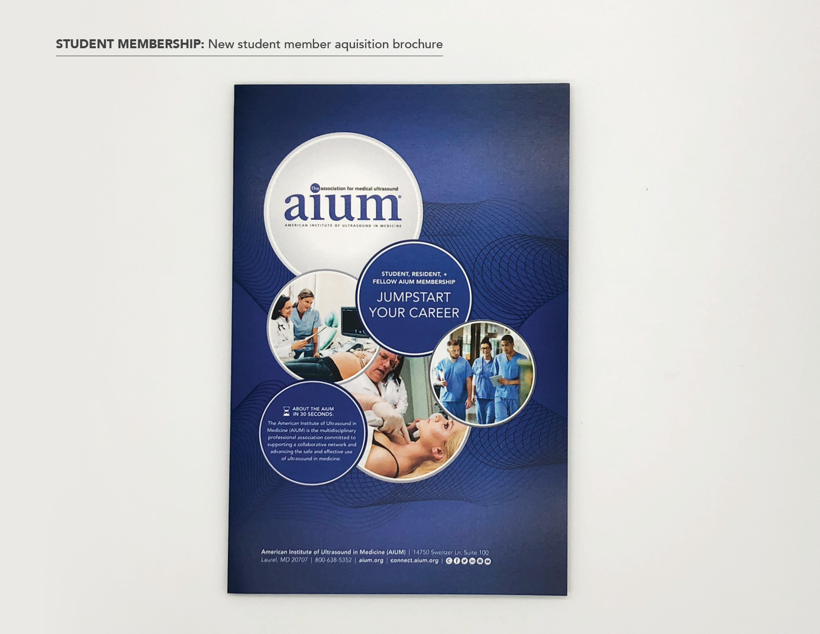 Student membership acquisition brochure