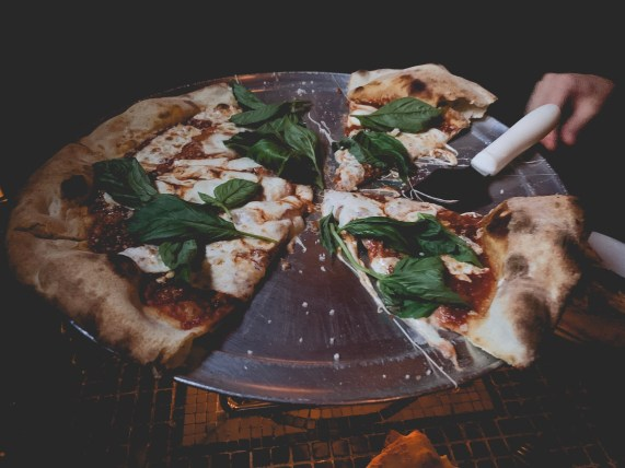 Pizza from Giuseppina's in Brooklyn