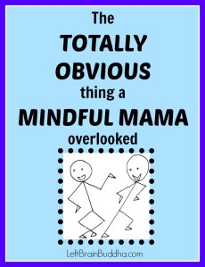 The Totally Obvious Thing a Mindful Mama Overlooked