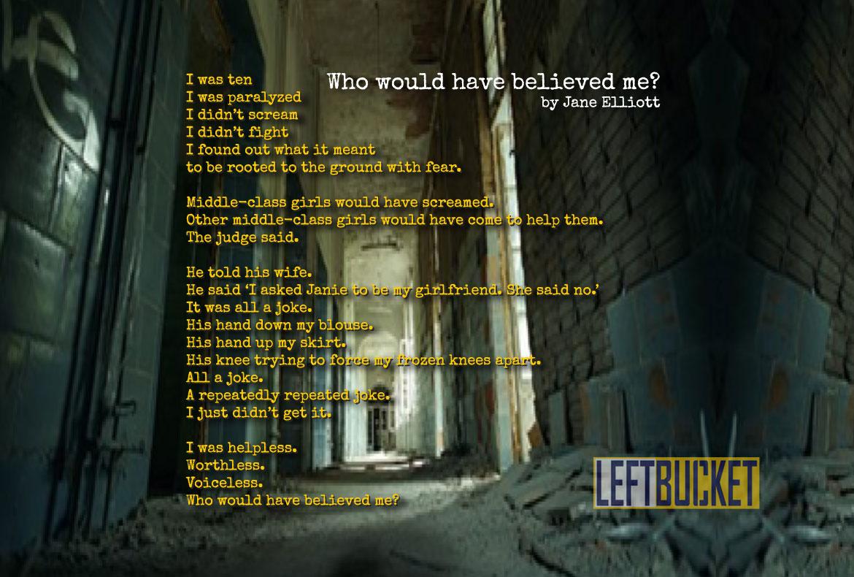 "Who would have believed me?"" by Jane Elliott – LeftBucket com"