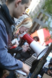 Occupy Wall Street - Day 2 - Sept. 18, 2011 - photo by Paul Weiskel