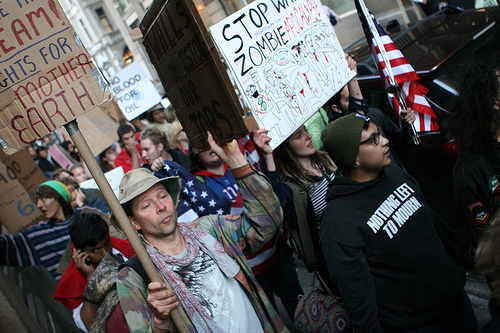 Occupy Wall Street - Day 4 - Sept. 20, 2011 - photo by Paul Weiskel