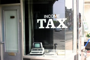 income tax - photo by Laurie McGregor