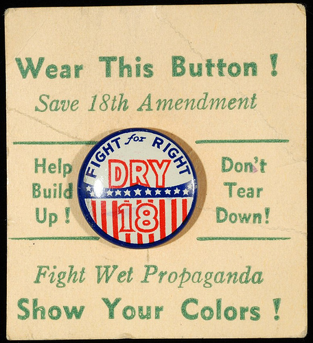 Prohibition button - photo by Minnesota Historical Society
