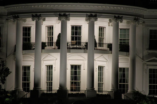 South-side of the White House at Night - photo by Matt Elmstedt