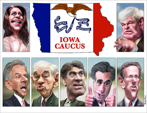 Iowa Caucus Candidates - photo by DonkeyHotey