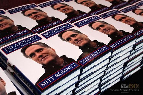 Mitt Romney - No Apology - photo by The World Affairs Council of Philadelphia