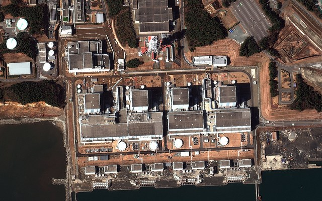 Earthquake and Tsunami damage-Fukushima Dai-Ni, Japan - March 12, 2011 - photo by DigitalGlobe