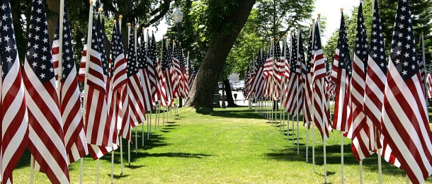 Flag Row - United States - photo by Paul Mayne