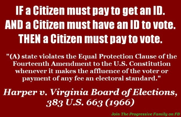 Harper v. Virginia Board of Elections - image by The Progressive Family