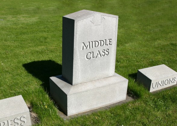 Middle Class RIP - image by DonkeyHotey