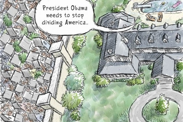 Divided America - a cartoon by Nick Anderson, The Houston Chronicle