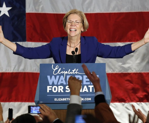 A good night for liberals like Elizabeth Warren