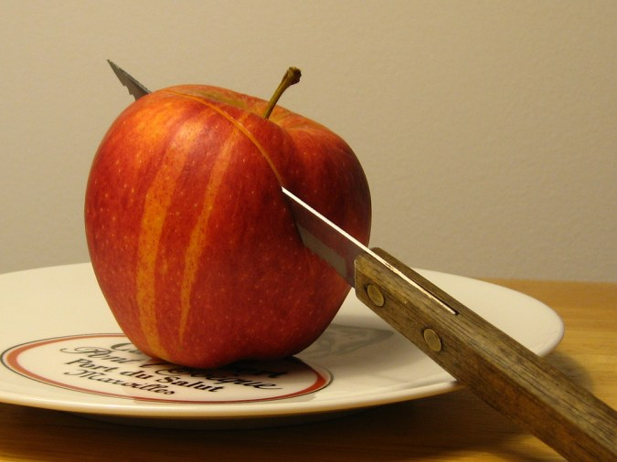 Striped apple - photo by put_the_needle_on_the_record