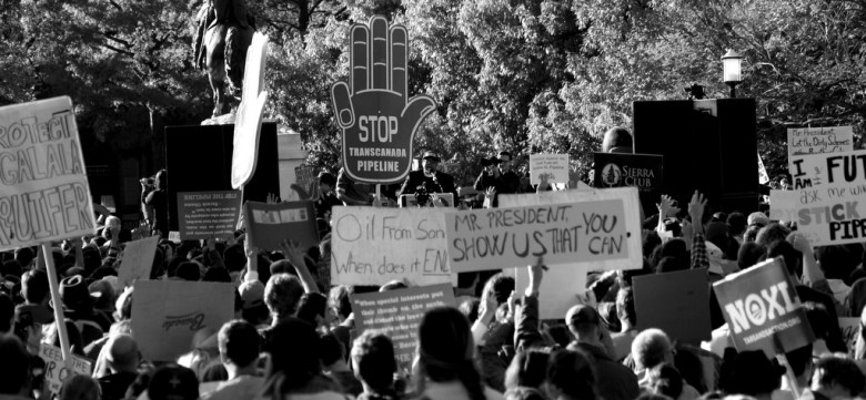 Keystone XL Pipeline Protest at White House - photo by tarsandsaction