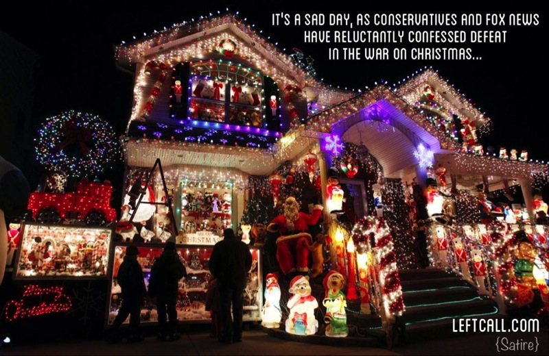 Conservatives admit defeat war on christmas