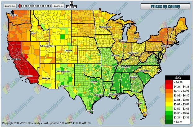 A Graphic That Will Raise a Californian's Blood Pressure–Gas Prices Illustrated