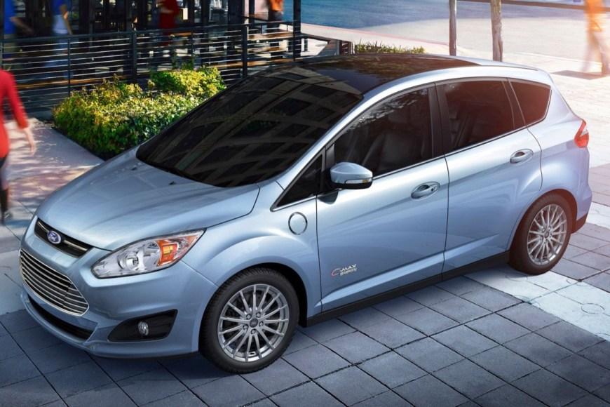 Ford C-Max Energi. Plug-in hybrid. 100 MPGe on battery. 43 MPG on gas. 21 mile electric range.