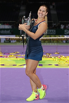 during day 8 of the BNP Paribas WTA Finals Singapore at Singapore Sports Hub on October 30, 2016 in Singapore.