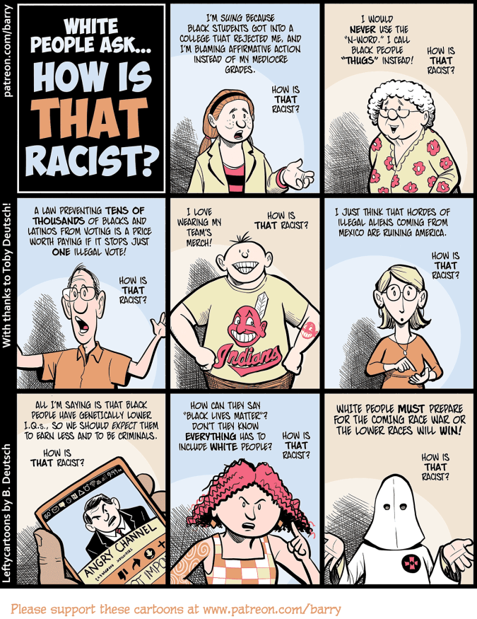 Lefty Cartoons Blog Archive White People Ask How Is That Racist