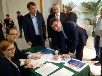 Renzo Piraccini, Luca Panzavolta e Mauro Lusetti